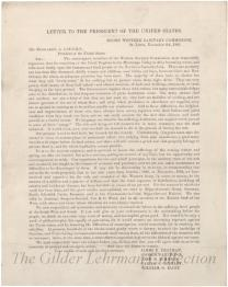 [Appeal from the Western Sanitary Commission to President Abraham Lincoln regarding the condition of freed slaves]