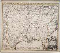 A map of Louisiana and of the river Mississippi by John Senex