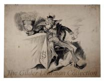 [Print of pen and ink drawing of Uncle Sam]
