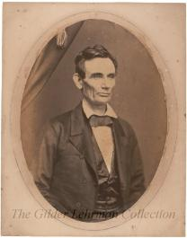 Salt print photograph of Abraham Lincoln by H. H. Cole or R. M. Cole