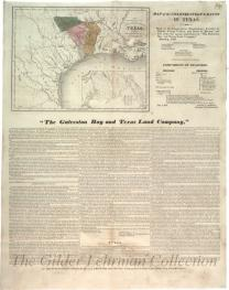 Map of colonization grants in Texas [land grants in Texas]