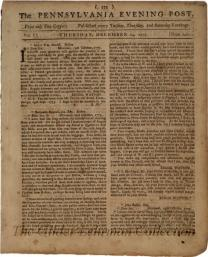 The Pennsylvania evening post. [Vol. 1, no. 14 (December 14, 1775)]