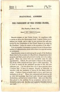 Inaugural address of the President of the United States, on the Fourth of March, 1861.