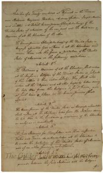 Articles of a treaty concluded .... [with] the North Cherokee Indians