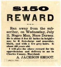 [Reward for Nace Dorsey, a runaway slave]