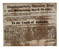 To the Youth of Alabama: We are calling to arms!  [recruitment broadside]