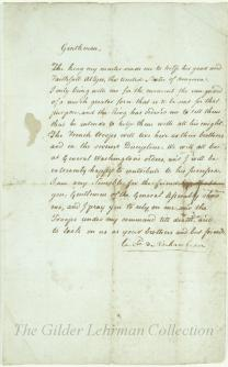 [William Ellery's copy of Rochambeau's response to the address of the General Assembly of Rhode Island].