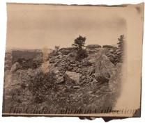 """Breast work on Left wing Round top Getezsburg [Gettysburg]."""
