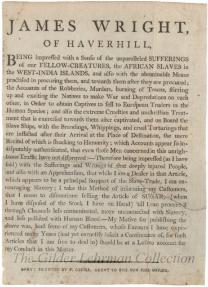 James Wright, of Haverhill... [Merchant will not sell sugar due to slave labor]