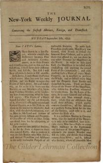 New-York weekly journal. [Vol. 933, no. 96 (September 8, 1735)]