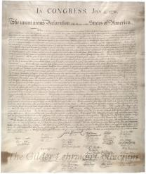 Declaration of Independence [W.J. Stone facsimile on vellum]