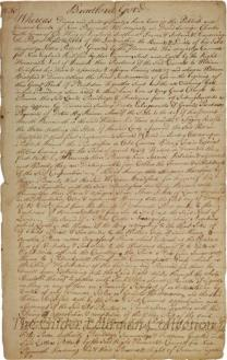 [Surrender of the Patent of Plymouth Colony to the Freemen].