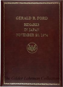 Gerald Ford's Remarks in Japan