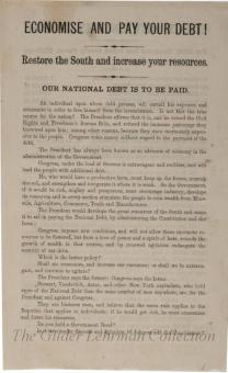 [Reconstruction leaflet denouncing the Freedman's Bureau and supporting Andrew Johnson]