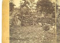 View of Breast-Works on Round Top, Gettysburg