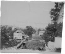 Hall St., Sharpsburg, Maryland, with St. Paul's Episcopal Church in the distance and Gardner's photographic wagon in foreground.