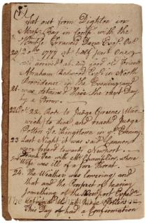 [Journal of William Ellery's journey from Dighton, Massachusetts, to Yorktown, Pennsylvania]