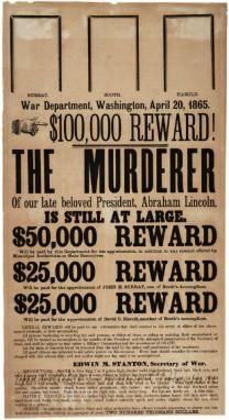 [Lincoln assassination reward poster]