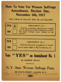 How to vote for woman suffrage amendment, election day, November 6th, 1917