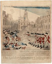 The Bloody Massacre perpetrated in King-Street Boston on March 5th 1770 by a party of the 29th Reg.