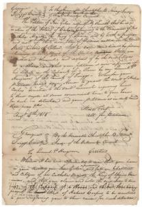 Petition of freeman wrongly enslaved by Samuel P. Hargrove