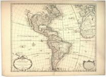 Carte d'Amerique [map showing North & South America, parts of Africa & Europe]