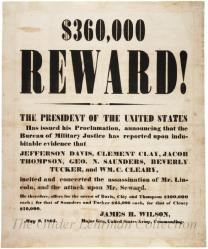 [Lincoln assassination reward]