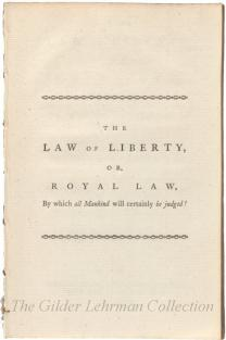 Law of Liberty, or the Royal Law ... [abolitionism]