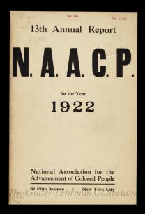 national association for the advancement of colored people 13th annual report naacp for the year 1922 - Colored People Book