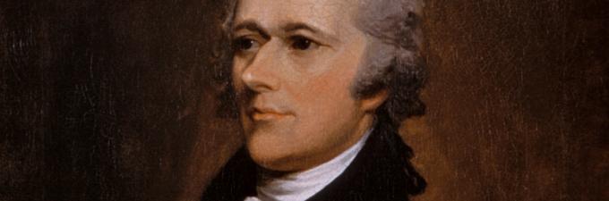 Alexander Hamilton portrait by John Trumbull, 1806.