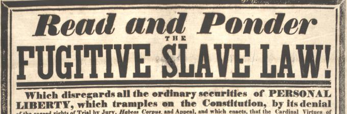 essays on the fugitive slave act 1 print : lithograph on wove paper  333 x 443 cm (image) | an impassioned condemnation of the fugitive slave act passed by congress in.